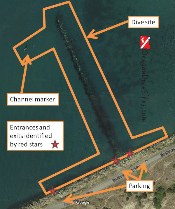 First finger dive site overview